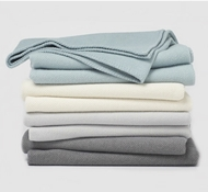 Coyuchi Carmel Washable Organic Cotton & Wool Blankets