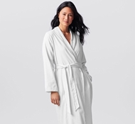 Women's Organic Cotton Sateen Terry Robe