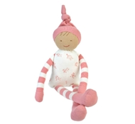 Organic Cotton Stuffed Toy Sarah Doll in Pink Stripe
