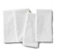 Organic Cotton Farmhouse Napkins in Alpine White (Set of 4)