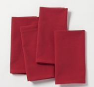 Organic Cotton Farmhouse Napkins in Crimson (Set of 4)