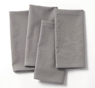 Organic Cotton Farmhouse Napkins in Deep Pewter (Set of 4)