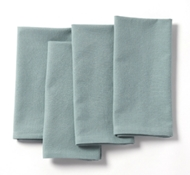 Organic Cotton Farmhouse Napkins in Mid Dusty Aqua (Set of 4)