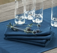 Organic Cotton Farmhouse Napkins in Midnight (Set of 4)