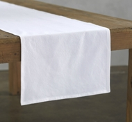 Organic Cotton Farmhouse Table Runner in Alpine White