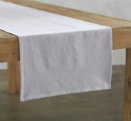 Organic Cotton Farmhouse Table Runner in Deep Pewter