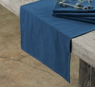 Organic Cotton Farmhouse Table Runner in Midnight