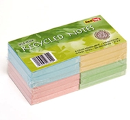 100% Recycled Colored 3x3 Self-Stick Notes by Redi-Tag