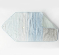 Coyuchi Organic Cotton Pebble Stripe Travel Changing Pad in Cool Blue