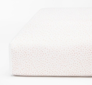 Coyuchi Organic Cotton Watercolor Printed Dot Fitted Crib Sheet