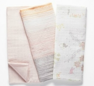 Coyuchi Organic Cotton Muslin Swaddle Blankets (Set of 3) - Garden