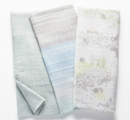 Organic Cotton Muslin Swaddle Blankets (Set of 3) - Hedgehog