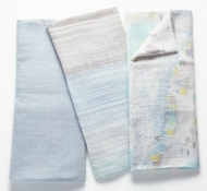 Organic Cotton Muslin Swaddle Blankets (Set of 3) - Sea Life