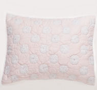 Organic Cotton Dew Drop Twin Quilt in Peony