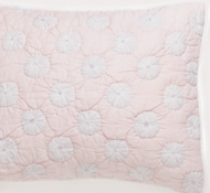 Organic Cotton Dew Drop Sham in Peony