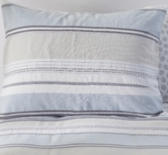 Organic Cotton Sunset Stripe Twin Duvet Set in Cool Blue