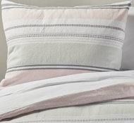 Organic Cotton Sunset Stripe Twin Duvet Set in Warm Pink