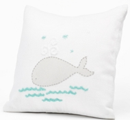 Coyuchi Linen Whale Decorative Pillow