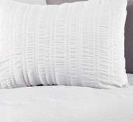 Organic Cotton Seashore Twin Duvet Set in Alpine White