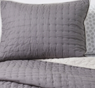 Organic Cotton X Marks the Spot Twin Quilt & Sham in Mineral/Pebble