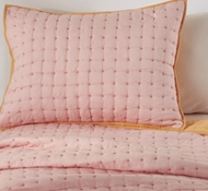 Organic Cotton X Marks the Spot Twin Quilt & Sham in Watermelon/Apricot
