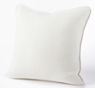 Organic Cozy Cotton Decorative Pillow in Alpine White