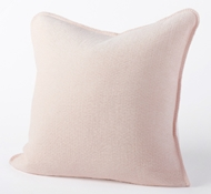 Organic Cozy Cotton Decorative Pillow in Blush