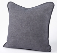 Organic Cozy Cotton Decorative Pillow in Charcoal