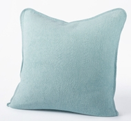 Organic Cozy Cotton Decorative Pillow in Sea Spray