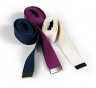 Cotton Yoga Strap with Metal D-ring