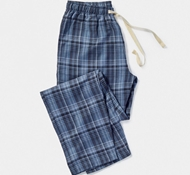 Men's Plaid Pajama Pant in Blue Plaid