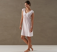 Coyuchi Women's Solstice Short Sleeve Nightshirt in Camellia