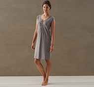 Coyuchi Women's Solstice Short Sleeve Nightshirt in Slate