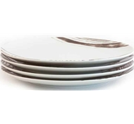 Goode Grain Porcelain Dinner Plate - Set of 4