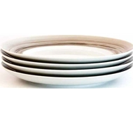 Dakota Porcelain Dinner Plate Set of 4 - Birch