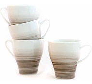 Dakota Porcelain Mug  Set of 4 - Birch