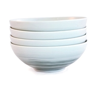 Dakota Porcelain Cereal Bowl Set of 4 - Mist