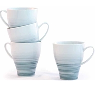 Dakota Porcelain Mug  Set of 4 - Mist