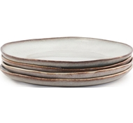 Farmstead Stoneware Dinner Plate - Set of 4 - bisque