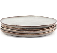 Farmstead Stoneware Salad Plate - Set of 4 - bisque