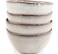 Farmstead Stoneware Cereal Bowl - Set of 4 - bisque