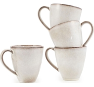 Farmstead Stoneware Mug - Set of 4 - bisque