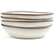 Farmstead Stoneware Pasta Bowl - Set of 4 - bisque