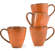 Farmstead Stoneware Mug Set of 4 - terracotta