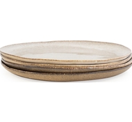 Farmstead Stoneware Dinner Plate - Set of 4 - mushroom