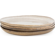 Farmstead Stoneware Salad Plate - Set of 4 - mushroom