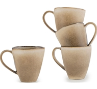 Farmstead Stoneware Mug Set of 4 - mushroom