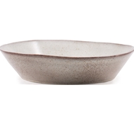 Farmstead Stoneware Pasta Serving Bowl - Bisque