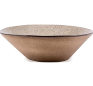 Farmstead Stoneware Large Serving Bowl - Mushroom