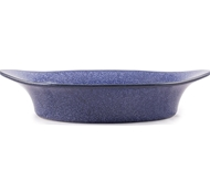 Farmstead Stoneware Large Oval Baker - Indigo